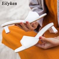Eilyken haute qualité PU en cuir souple pantoufles femmes été plage Peep orteil diapositives chaussures femme loisirs de plein air sandales taille 35-42