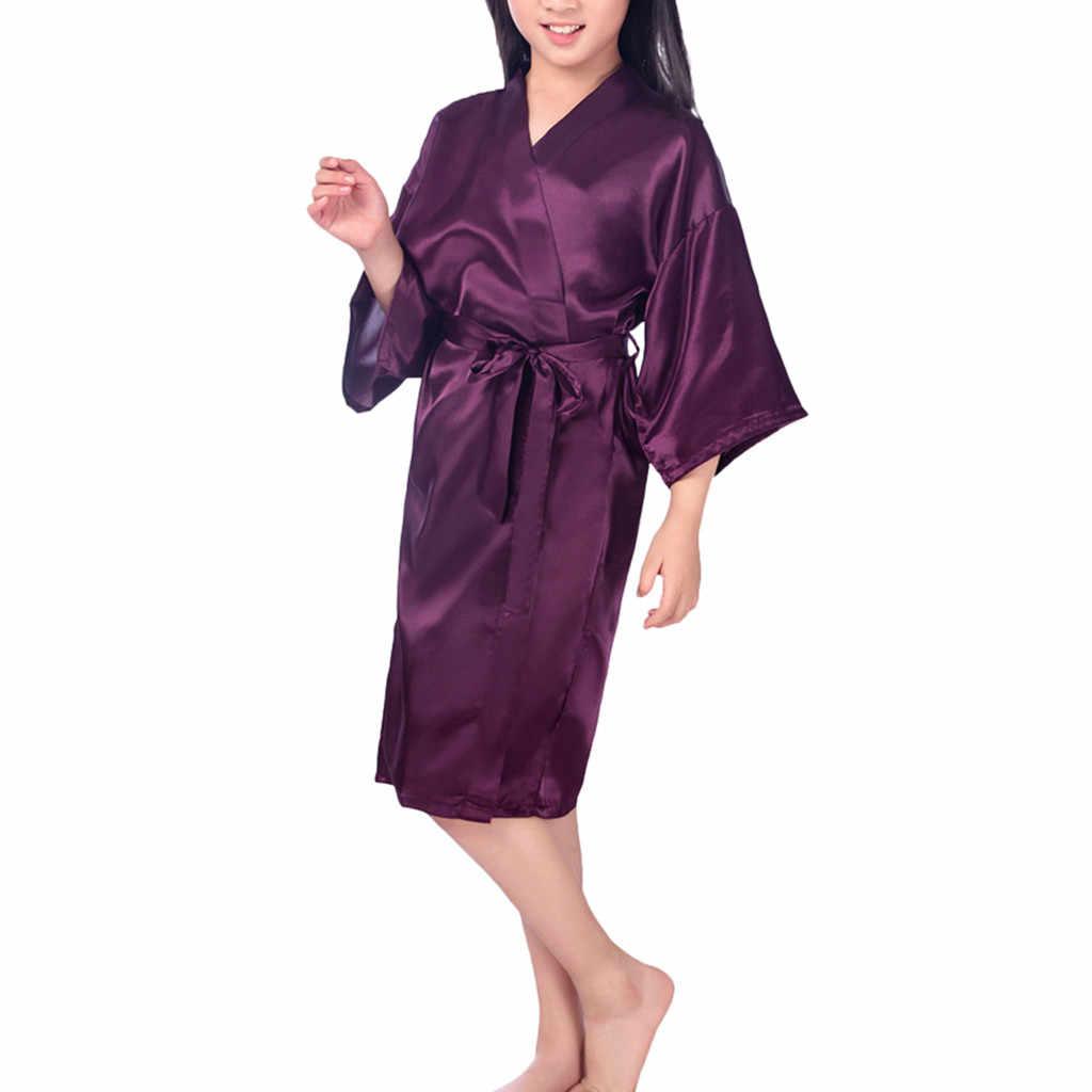 Áo Váy Ngủ 4-14 Mã Bộ Đồ Ngủ Màu Váy Ngủ Ren Kimono Áo Chất Liệu Vải Mềm Mại Có Độ Đàn Hồi Cao Đồ Ngủ 9.2