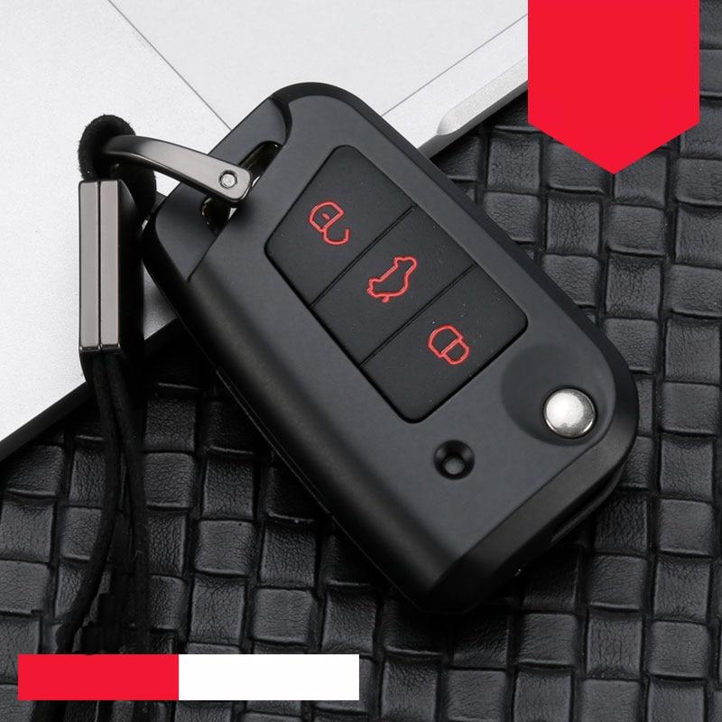 Car Key Case Zinc Alloy Silica Gel For VW Golf Bora Jetta POLO Passat Skoda octevia A5 Fabia seat Leon Golf-7 Tiguan-L B8 Gte