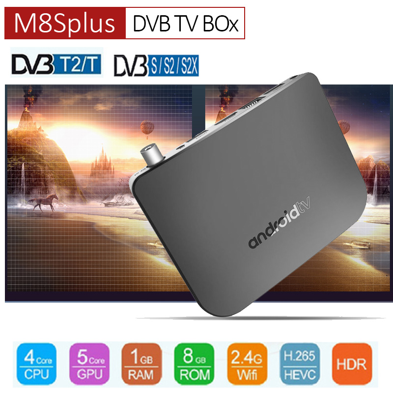 DVB-T2/T Android TV Box Amlogic S905D Quad Core 1GB 8GB 1080p 4K 30fps 100M Youtube Google Play Store M8S PLUS DVB Media Player