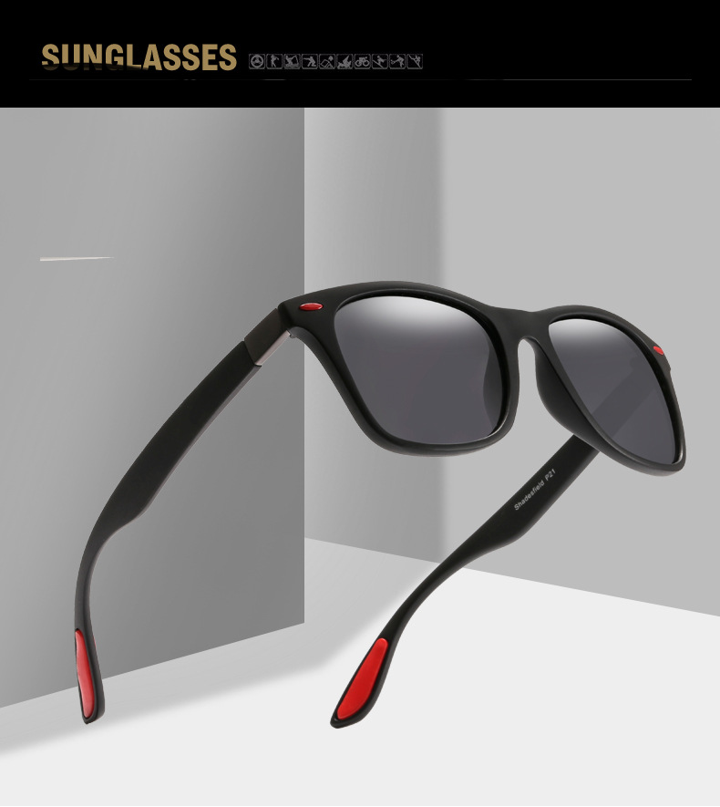 2019 New Classic UV400 Polarized Sport Sunglasses Men Women Brand Designer Semi Rimless Frame Sun Glasses Male Driver Goggle Z2