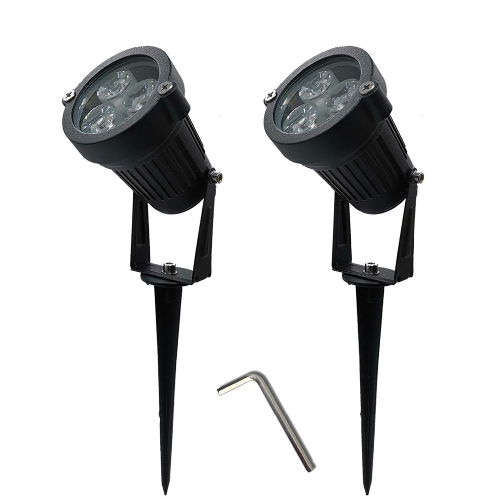 2pcs 9W Waterproof Lights LED Lawn Lamp 110V 220V Landscape Spot Light IP65 110 220 V Outdoor Lamps Spike Garden Lamp