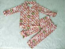 Santa print Christmas pajamas children clothes girls
