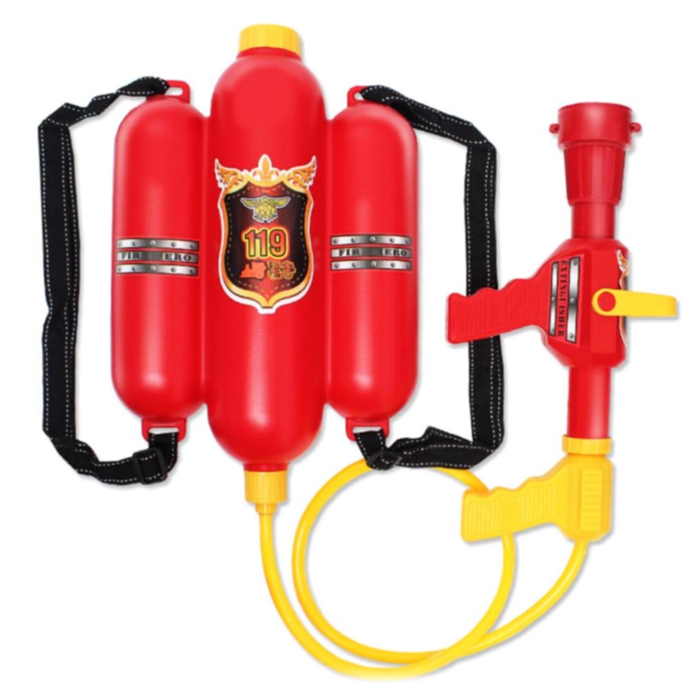 Plastic Durable Squirter Fireman Toy Children Kids Gift Props Outdoor Red Sprayer Beach Summer