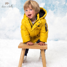 Kids Jacket Dave Bella Winter Padded Down-Coat Baby-Boys Children Fashion Hooded Solid