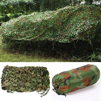 3x1.5M Camouflage Sun Protective Outdoor Full Car Auto Cover Woodland Green Desert Hunting Camping Jungle Leaves Camo Net image