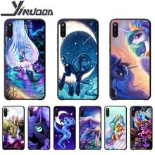 Motirunner My Little Pony Luna cassa del telefono coque per Samsung galaxy UNA 01 11 20 30 31 40 50 51 70 71 80 81 91 custodie in silicone coque(China)