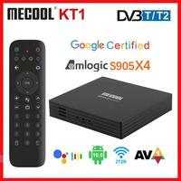 Mecool KT1 Android 10 TV BOX Google Zertifiziert DVB-T/T2 Smart 4K Android 10,0 Media Player Amlogic S905X4 AV1 2T2R Decoder TV
