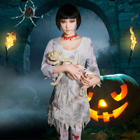 Halloween Dress Helloween Costume For Women Cosplay Mummy Party Horror Rave Clothes Bar Performance Halloween Cosplay BL2705