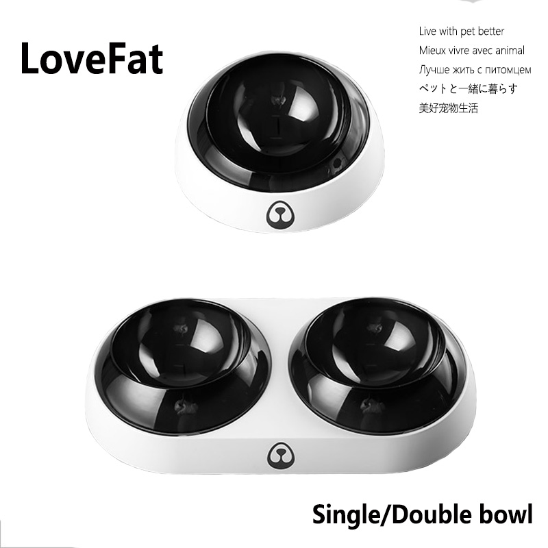 Cat Bowls Double With Raised Stand Pet Food Water Bowls For Cats Dogs Feeders Bowl Products Dog Water Feeder Kitten Drinking Fou