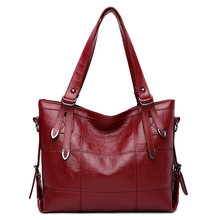 Роскошные женские кожаные сумки большой емкости женская мягкая