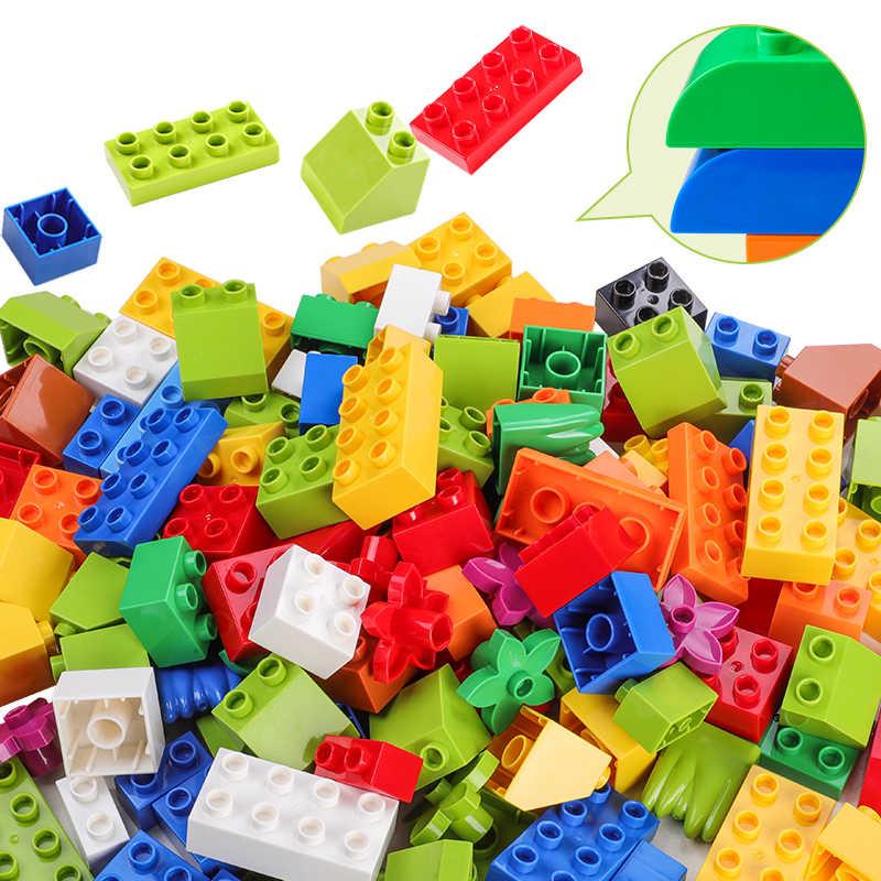 277 pces compatíveis com duploed blocos de construção animais estatueta clássico cidade tijolos consturction brinquedos educativos para crianças