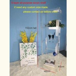 Image 5 - (Bằng Phẳng Đóng Gói) chất Liệu Acrylic 5 Kệ Mở Tủ Sách/Acrylic Trong Suốt Đa Năng Kệ Trưng Bày 40W 40D 152H Cm