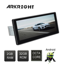 ARKRIGHT 10.25 1Din 32GB Android 8.1 Head Unit Octa Core Audio Stereo car Radio Universal Multimedia Player Built-in DSP 4G