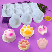 Cat Paw 3D Silicone Mold Mousse Dessert Cake Decorating Cat's Paw Making Mould Chocolate Cake Decor Mold Baking Accessories
