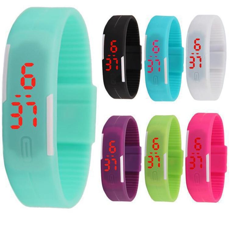 RGTOPONE Children's Digital Wristband Led Sport Electronic Kids Watch Casual Jelly Silicone Wristwatch Bracelet часы мужские