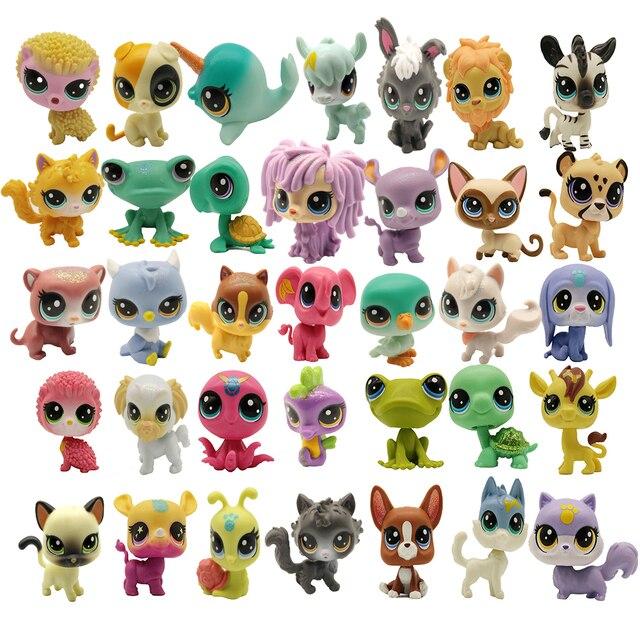 Buy 5 Pcs Get 2 Gifts 4 5 CM Loose Old Cat Pet Shop Toys  Puppy Figure Mini Toy Figures Classic Little Pet Toys