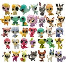 Kopen 5 Pcs Krijgen 2 Geschenken 4 5 Cm Losse Oude Kat Pet Shop Speelgoed Puppy Figuur Mini Speelgoed cijfers Klassieke Kleine Huisdier Speelgoed