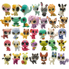 Mini figuras de juguete para mascotas de 4 5 CM tienda de mascotas de juguete, lote de 5 uds.