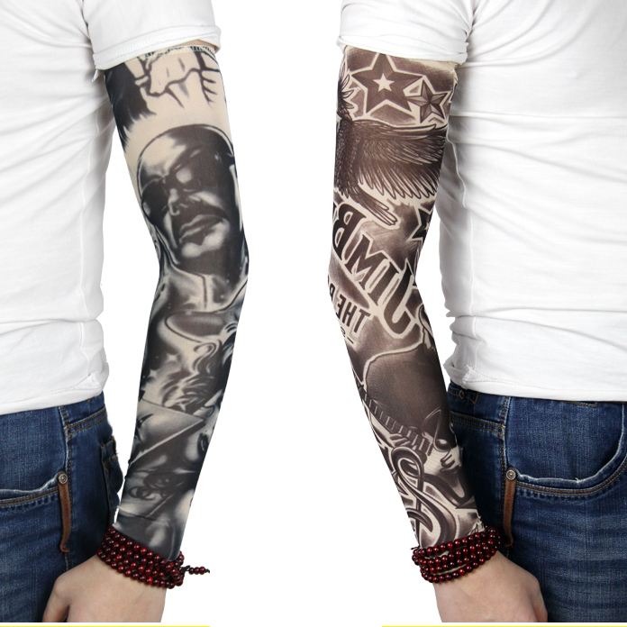 Tattoo Sleeve Non - Gender Quick Drying Uv Protection Outdoor Temporary Fake Running Arm Tattoo Sleeve Printed ArmSleeve(single)