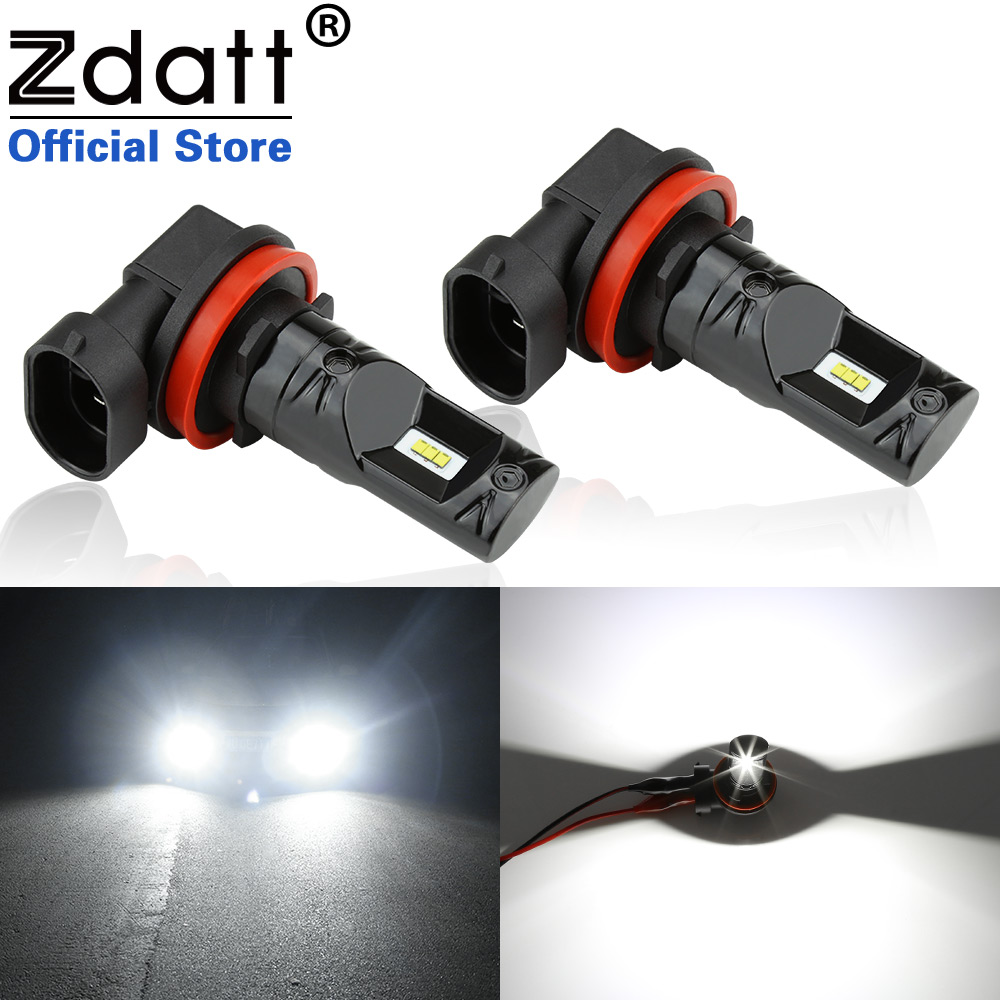 Zdatt H4 LED Fog Lights H9 9005 HB3 9006 HB4 PSX24W Running Lights Lamps For Cars Projector Turning Parking Bulb 12V 24V
