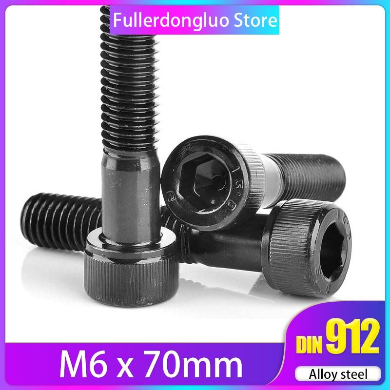 1//4 inch Hexagonal Allen Bolt 1//4-20 x 3//4 Black Oxide Coarse Thread Length: 3//4 inch Alloy Steel Quantity: 100 Socket Head Cap Screw Full Thread Hex Socket