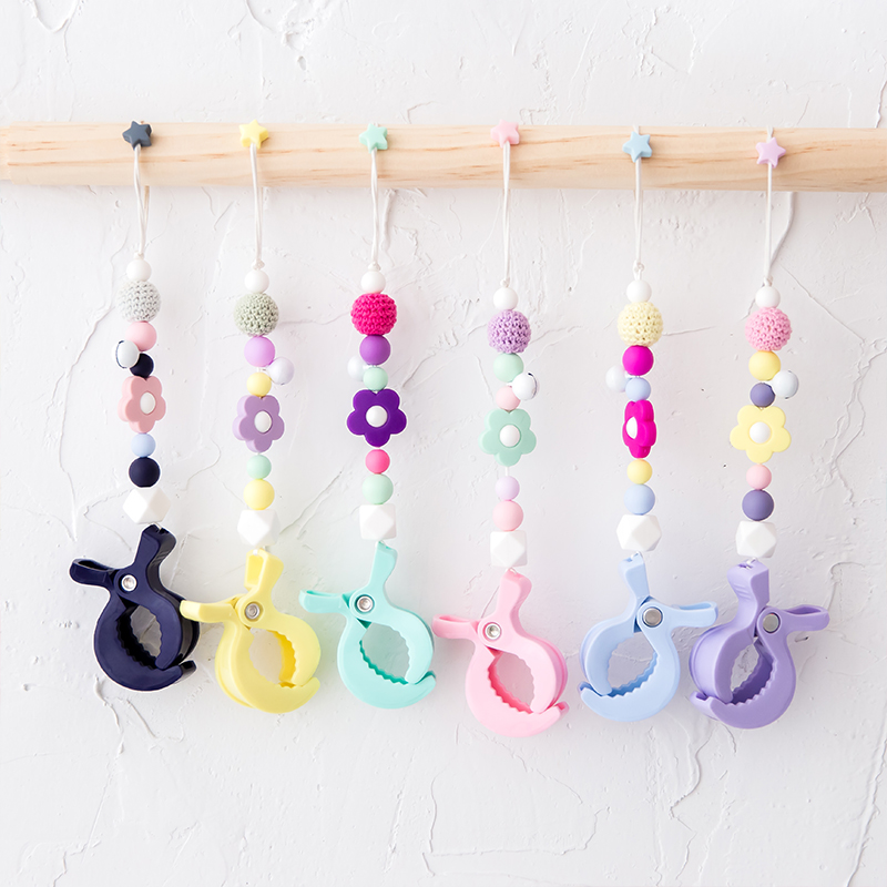 Blanket Clips 2PCS Play Gym Baby Lamp Pram Stroller Peg DIY To Hook Seat Cover Car Baby Teether Pram Children'S Goods Toys Gifts | Happy Baby Mama