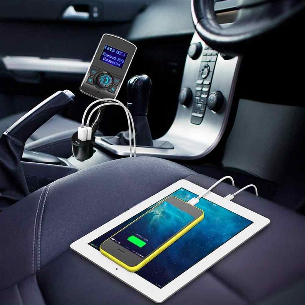 Không dây Trong Bộ Phát FM Bluetooth Xe Hơi/Bộ Điều Chế Màn Hình Hiển Thị 1.44 Inch Máy Phát Vô Tuyến Đầu Vào AUX Bluetooth Rảnh Tay