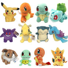 Pokemon Toy Pet Elf Plush Toy Doll Pokémon Squirtle Pikachu Small Fire Dragon(China)