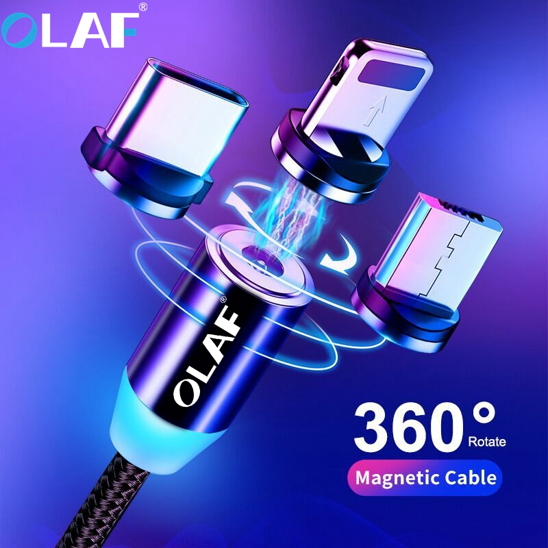Magnetic <font><b>Cable</b></font> Micro USB Type C <font><b>Cable</b></font> For iPhone 11 Pro Max Samsung Fast Charging Magnetic Charger USB <font><b>Cables</b></font> Mobile Phone Cord image