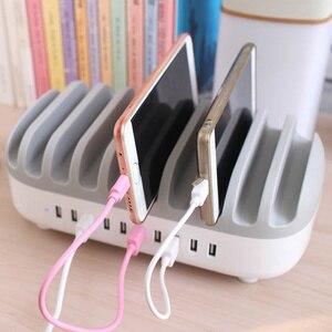 Image 5 - Station de recharge USB 5 ports charge rapide avec support chargeur USB 5/10 ports, adapté à toutes les montres intelligentes de bureau de téléphone