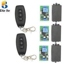 433MHz Universal Wireless Fernbedienung Schalter AC 85V 250V 3 banden rf Relais Empfänger Modul mit key Fob Sender für Licht