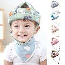 Capacete de segurança da criança chapelaria da criança recém-nascidos do bebê meninos meninas proteção capacete shatter-resistência chapéu capacete de proteção