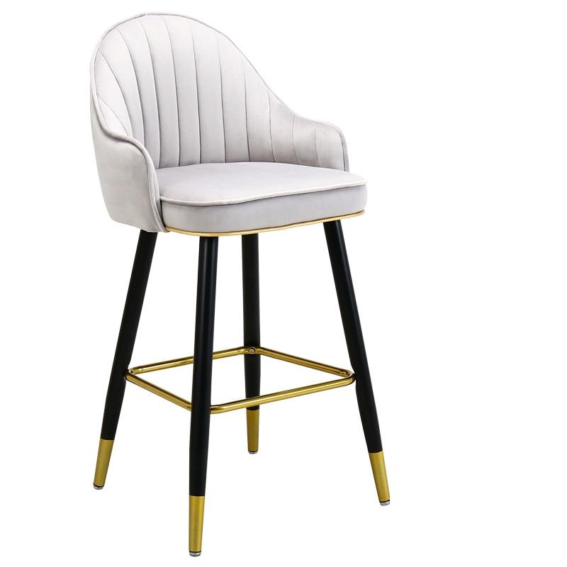 Light Luxury Solid Wood Bar Chair American High Chair Nordic Bar Chair Fashion Modern Italian Home High Stool