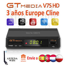 Fhd 1080P Gtmedia V7S Hd Europa Cline Satelliet Tv Ontvanger Gratis 3 Jaar Europa Cline Spanje Upgrated Freesat V7 hd Tv Decoder(China)
