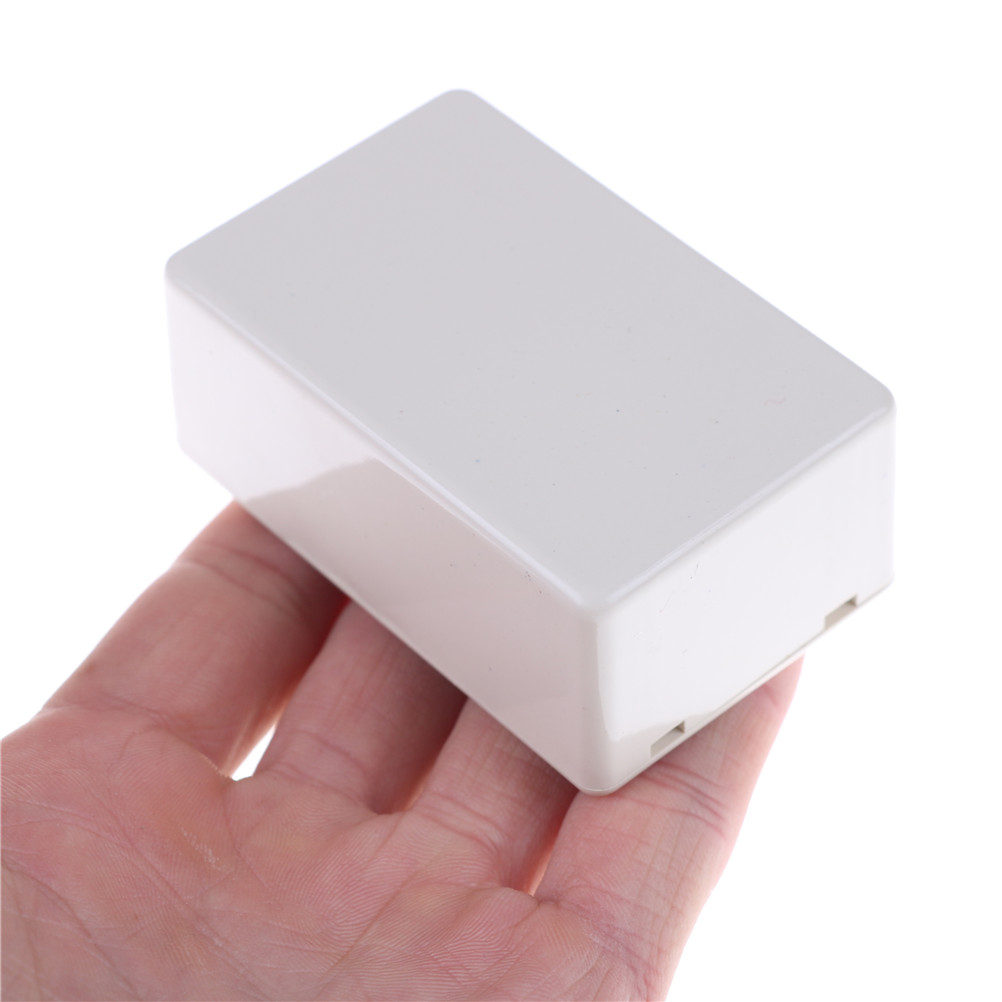 Комплект из 2 предметов, белая Пластик Водонепроницаемый проектирования электронный прибор чехол Корпус коробки 70X45X30 мм