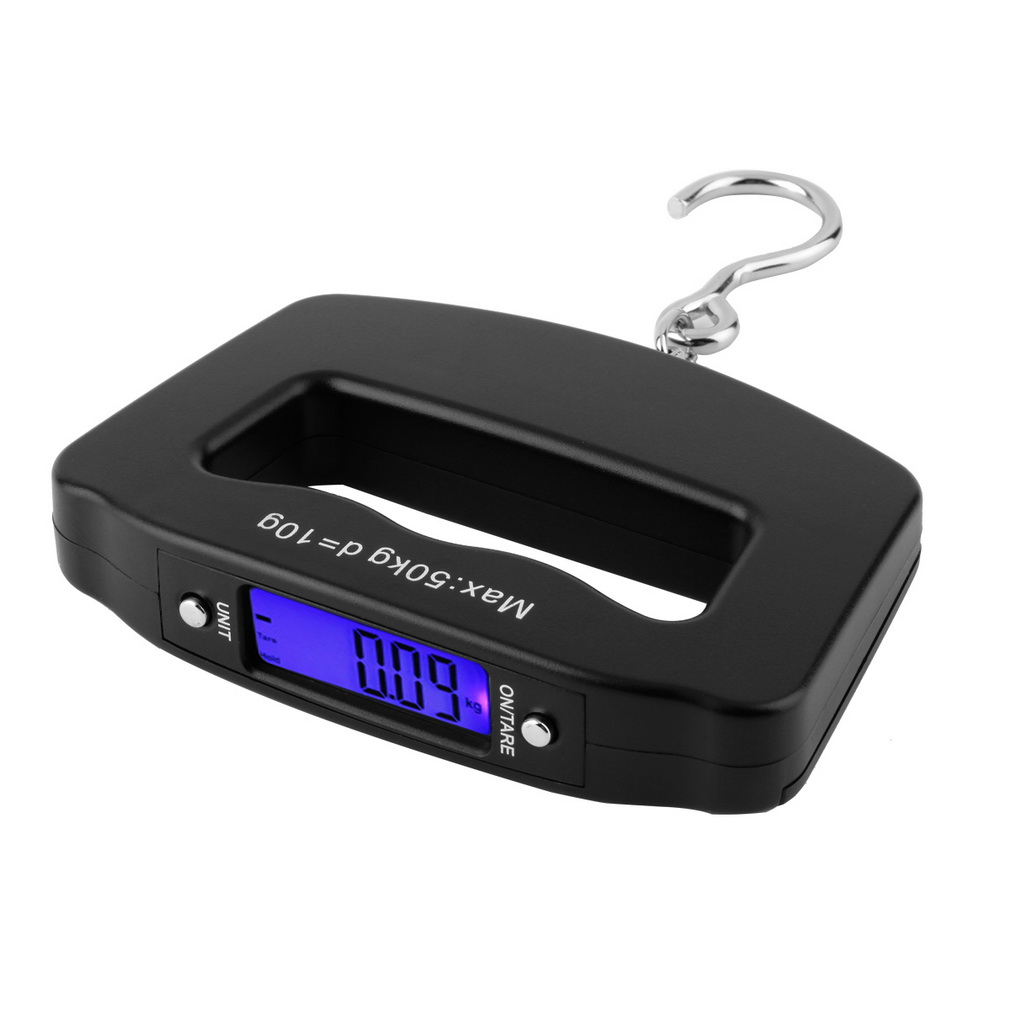 High Quality Mini Hand Held Plastic 50kg/10g LCD Digital Fishing Hanging Electronic Scale Pocket Hook Weight Luggage Scale image