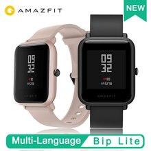 Глобальная версия умных часов AMAZFIT BIP LITE Huami, 45 дней автономной работы, 24 часовой монитор сердечного ритма во время сна, 3ATM водонепроницаемый, новое поступление