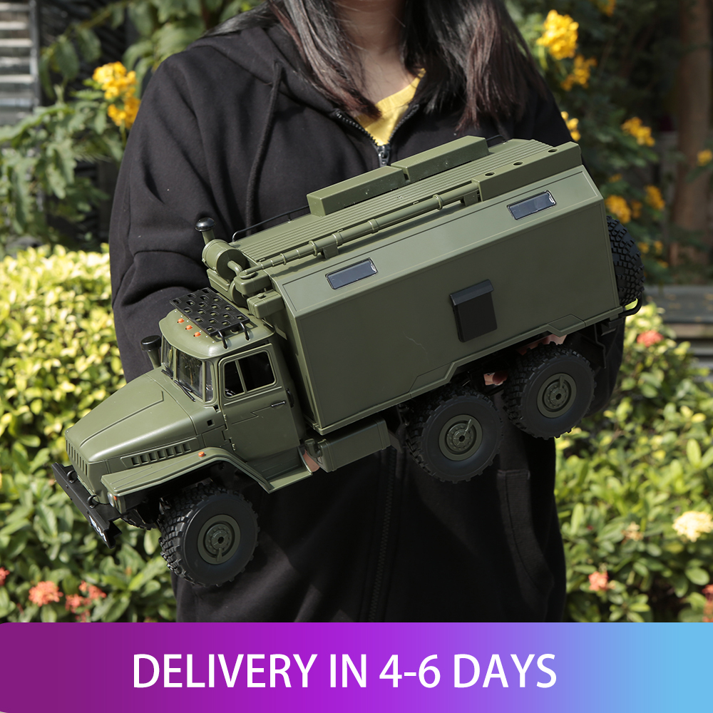 WPL B-36 1:16 RC Car Military Command Vehicle 2.4G 6WD Army Car Children Gift Kids Toy for Boys RTR 1