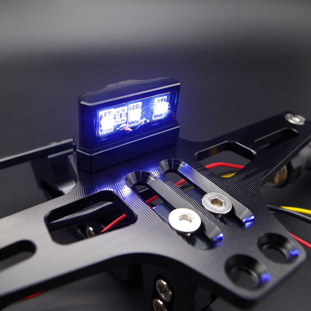 CNC אופנוע מתכוונן רישיון מספר צלחת מסגרת מחזיק סוגר עבור YAMAHA mt03 mt07 mt07 2018 mt09 tracer mt10 nmax 125 155