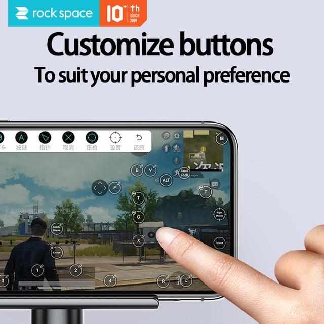 ROCKSPACE téléphone adaptateur de jeu téléphone montage clavier souris convertisseur filaire Bluetooth double mode contrôleur de jeu pour IOS Android