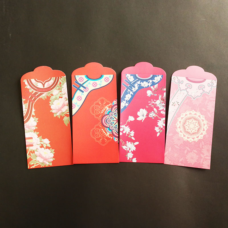 8Pcs/set Qi Pao Money Envelopes (Hong Bao) Red Envelopes For Putting Money As Gift Envelopes 3.5*6.8In Lucky Money Envelopes