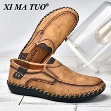 Men Casual Shoes Loafers Sneakers 2021 New Men Fashion Leather Comfortable Loafers Casual Shoes Zapatos De Hombre Men Shoe