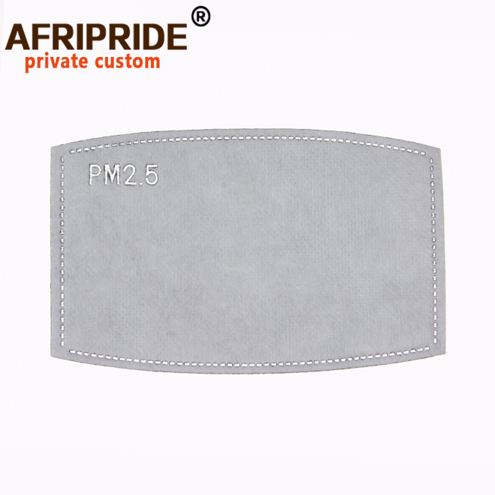 Afripride ancara impressão bandana maskatacado 6 peças saco & filtro a2028011