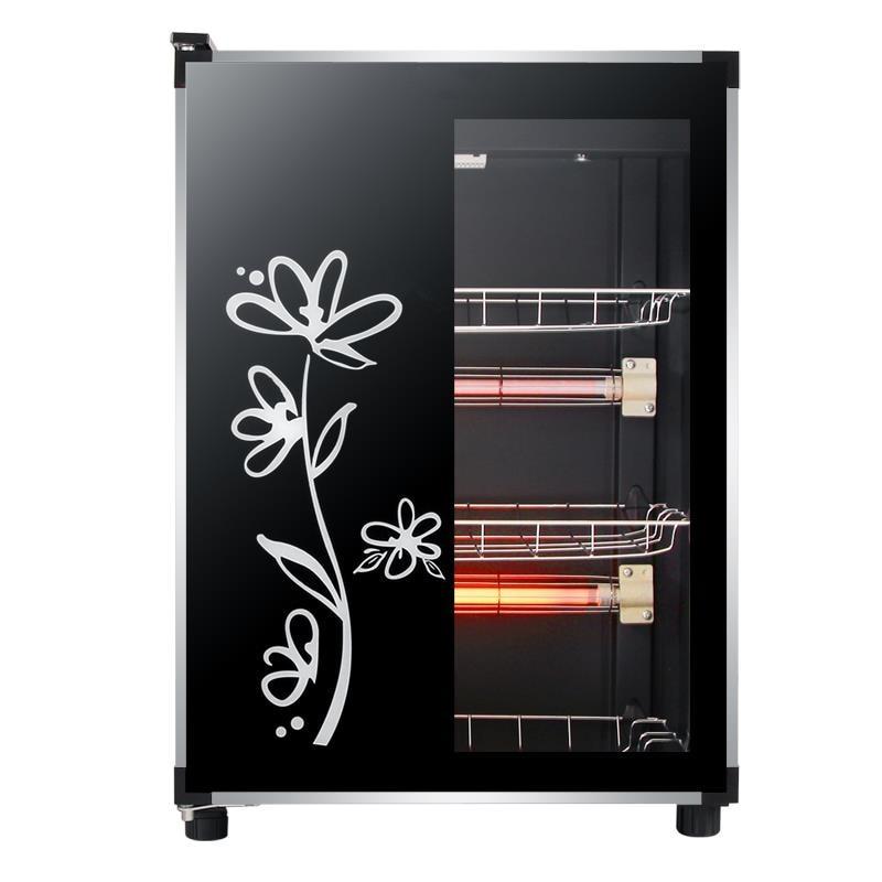 Household Small Desktop Single Door Stainless Steel Commercial Mini Desktop Vertical Tableware Disinfection Cupboard