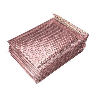 Image 5 - 50 sztuk/partia złocenie papierowe koperty bąbelkowe torby Mailers wyściełane koperty wysyłkowe z bąbelkową torbą pocztową