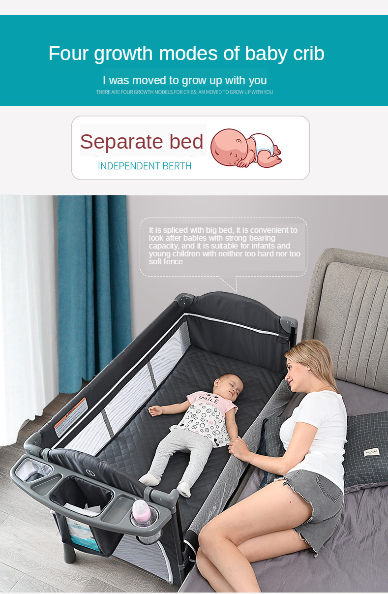 Crib Multifunctional Portable Folding