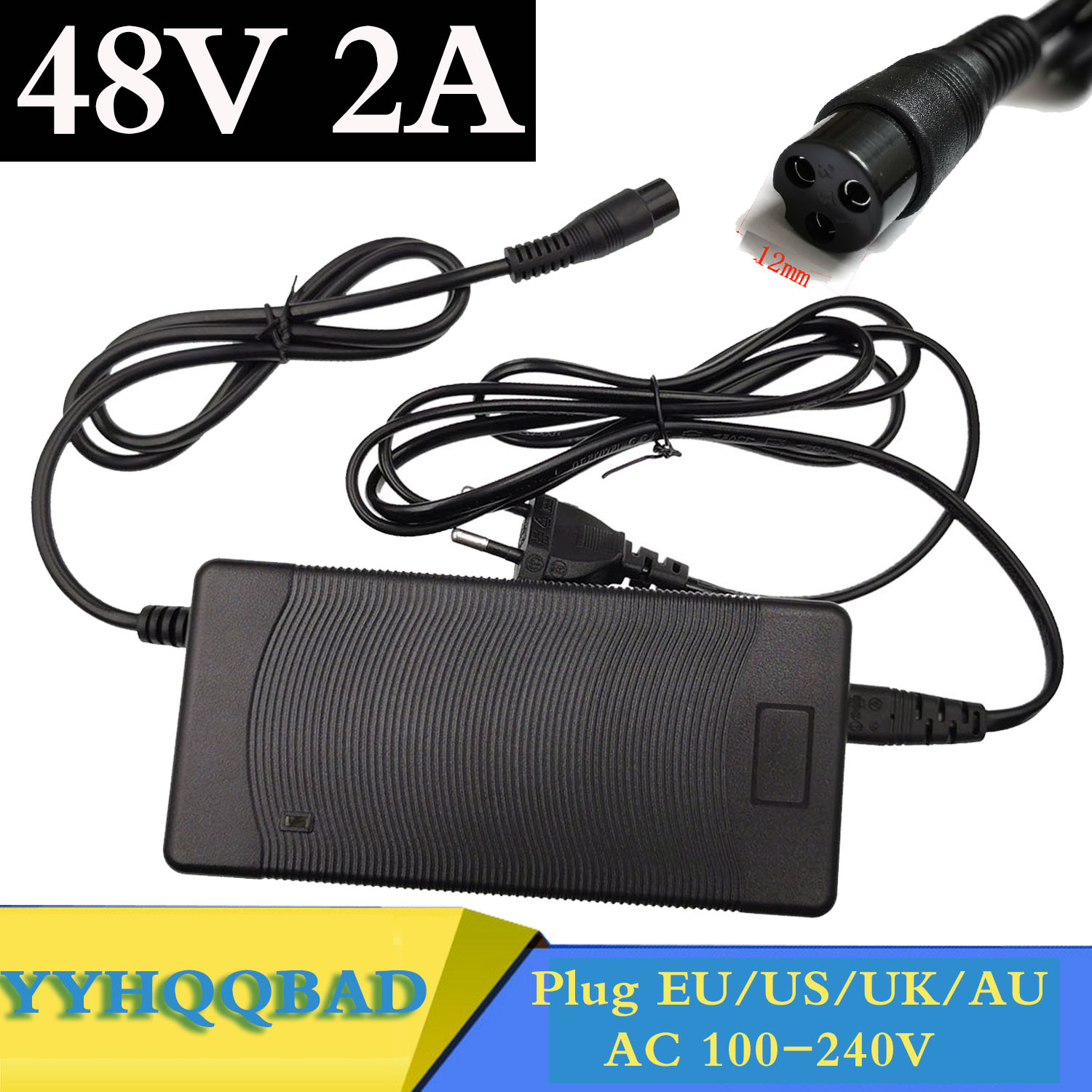 48V 2A Lead acid Battery Charger for 57 6V Lead acid Battery Electric Bicycle Bike Scooters Motorcycle Charger 3P GX16 Plug