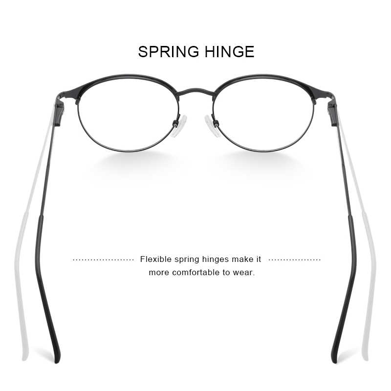 MERRYS עיצוב נשים יוקרה טיטניום סגסוגת אופטיקה משקפיים מסגרות בציר האולטרה קוצר ראיה מרשם משקפיים S2169