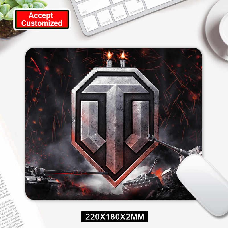 24X20CM World of Tanks à motifs Pc tablette Gamer ordinateur souris d'ordinateur portable Pad souris tapis tapis tapis de souris décorer votre bureau